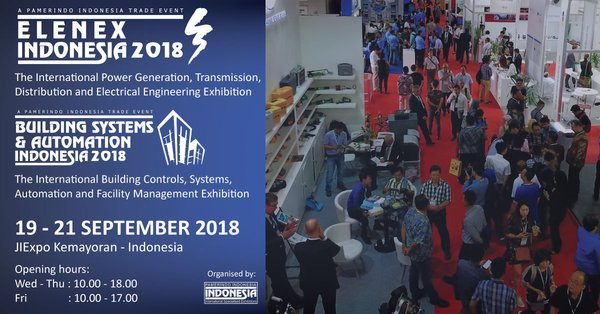 Elenex Indonesia 2018 and Building System & Automation Indonesia 2018