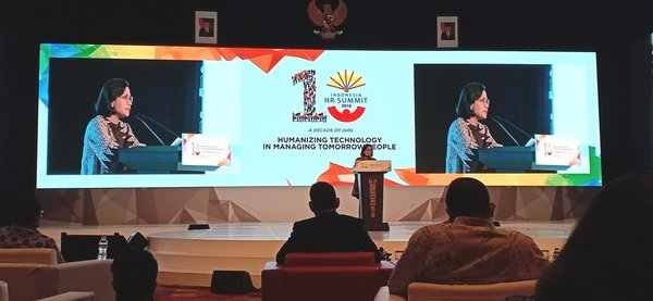 Indonesian Finance Minister Sri Mulyani was one of the speakers at The 10th Indonesia HR Summit 2018 in Bali.