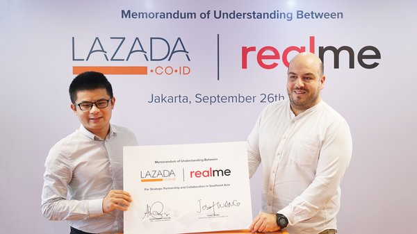 Lazada and Realme Sign MoU as Both Strengthen Partnership to Win Young Indonesian Market