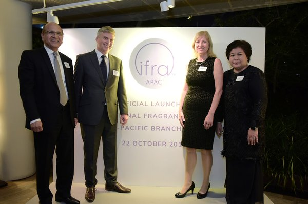 From left to right: Michael Carlos, Chairman, IFRA, David Ellison, Regional Chair, IFRA APAC, Martina Bianchini, President, IFRA, Rohaya Mamat, Regional Director, IFRA APAC