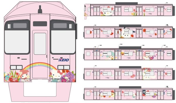 """Hello Kitty Land Tokyo unveils the first Keio Line Hello Kitty trains in time for the new """"Puro Christmas"""" 2018"""