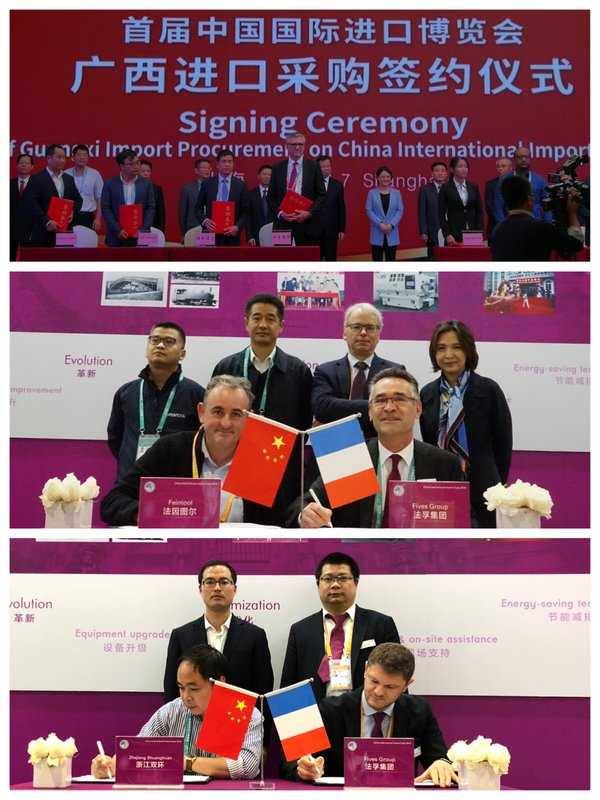 Fives is signing cooperation agreement with Fuda group, Fein tool and Zhejiang huanghuan in automotive sector