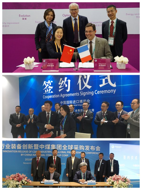 Fives is signing cooperation agreement with China National Coal group, Praxair and AVIC in energy and aerospace sector