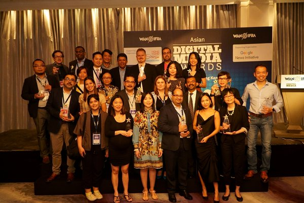 Asian Publishers recognised for their outstanding work in adopting digital and mobile strategies at WAN-IFRA's 9th Digital Media Awards