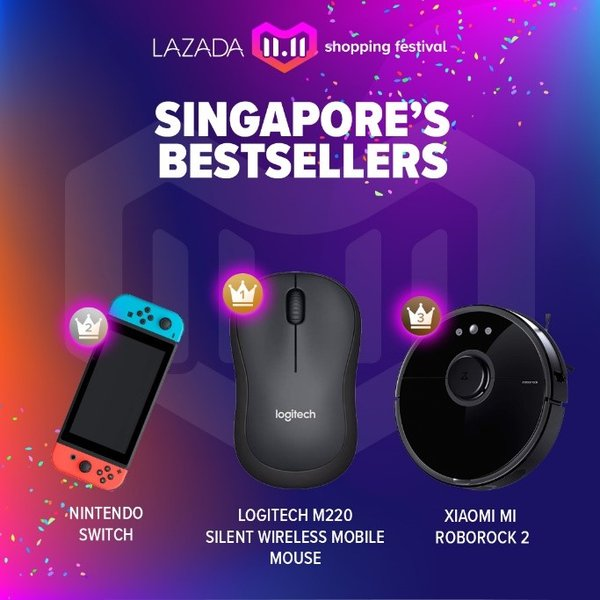 Singapore's Bestsellers for Lazada 11.11 Shopping Festival