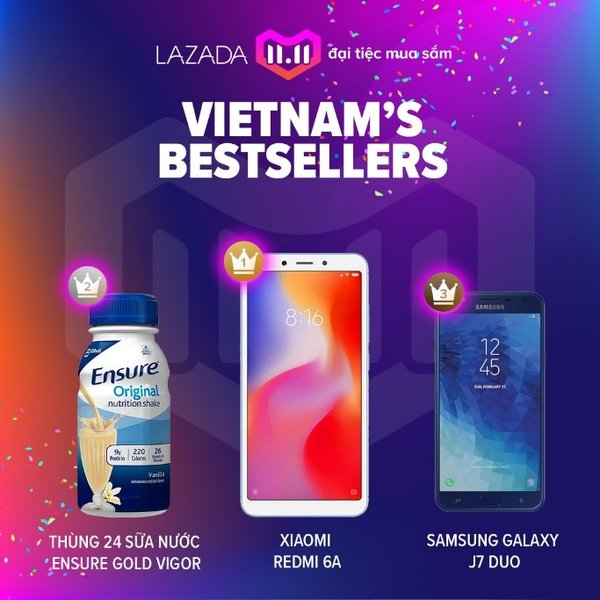 Vietnam's Bestsellers for Lazada 11.11 Shopping Festival