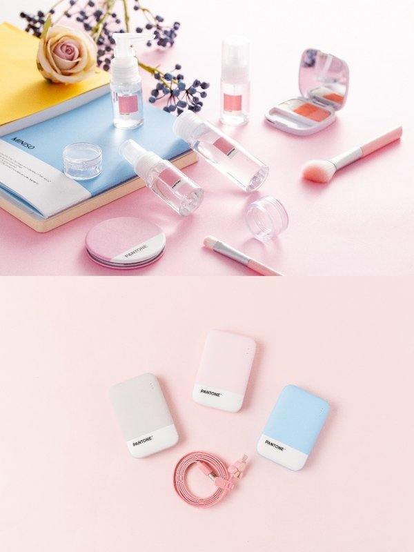 MINISO collaborated with PANTONE to make interesting products.