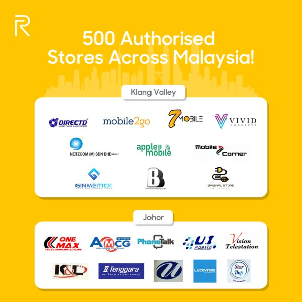 Realme Smartphones Now Available in 500 Authorized Stores Across Malaysia