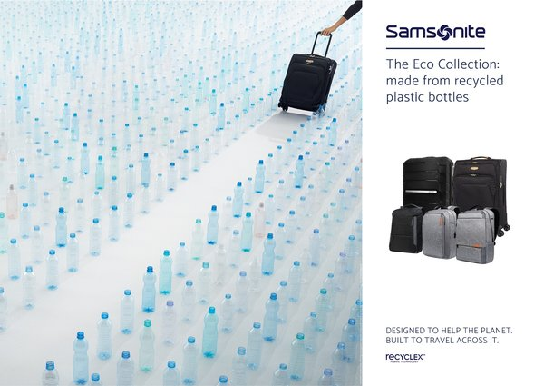Samsonite Makes Huge Leap Forward in Sustainability, Debuts New Eco Collection with Innovative Fabric Technology