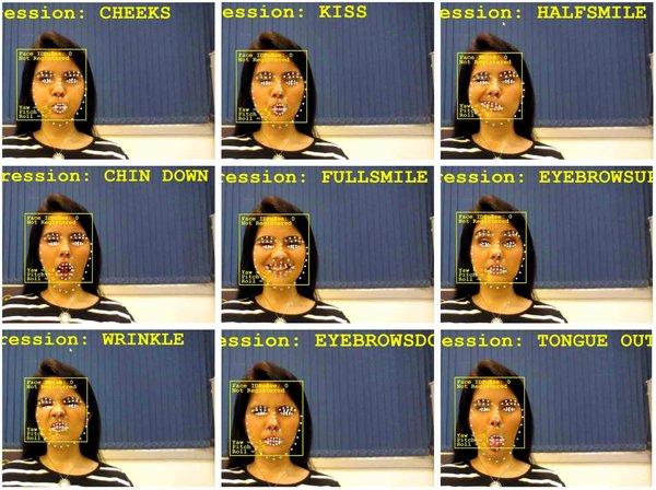 面部识别软件对面部表情进行识别