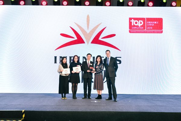 Infinitus (China) awarded Top Employer China for fourth consecutive year