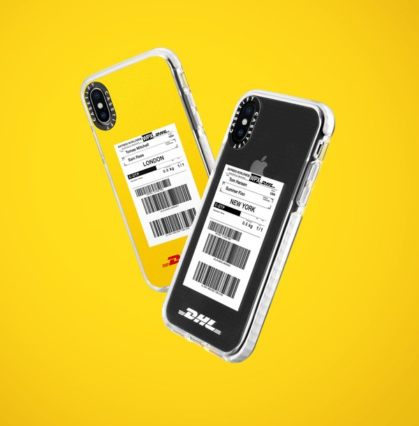 "One of the DHL-themed designs, ""Express It"", allows customers to customize their phone cases by entering their preferred names and locations on a waybill design."