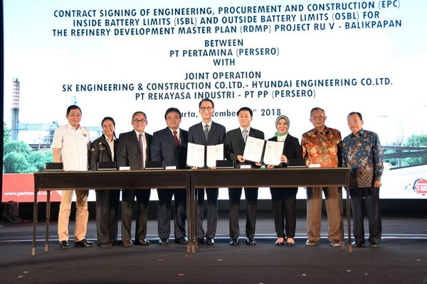 Stakeholders at the RDMP Contract Signing in Jakarta, December 10th 2018