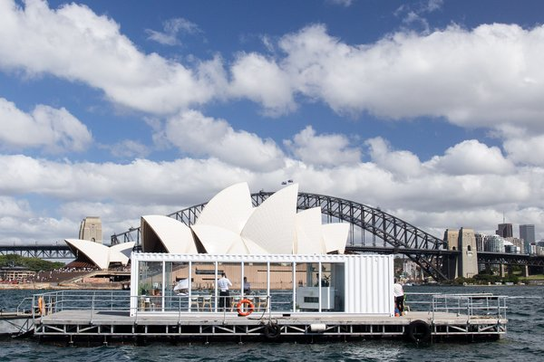 A floating Cellar Door in Sydney Harbour kicked off summer in Australia with the perfect glass of wine