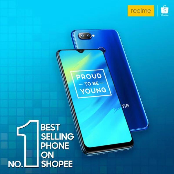 Realme - the fastest growing smartphone brand in Malaysia achieved No.1 Best Selling Phone on Shopee