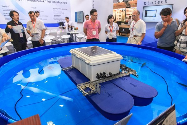 Based upon the post-show report 2018, the primary enquired products is devices with IoT technology. The picture showed a simulated fish pond setting onsite of exhibition to reveal the working process and data collection from Blutech's smart products.
