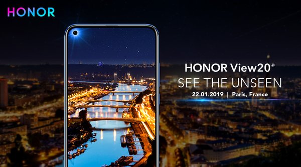 Undangan peluncuran HONOR View20 di Paris