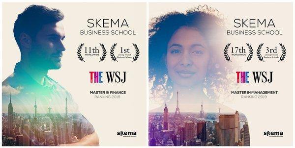 《泰晤士高等教育》&《华尔街日报》联合推出全球商学院排名,国际化商学院SKEMA表现出色