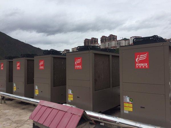 芬尼空气能服务西藏明圣大酒店,提供寒冬的无限温暖