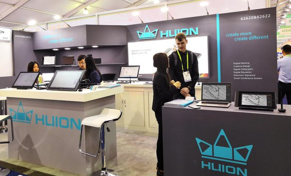 Huion exhibits Kamvas Pro pen displays at CES Las Vegas 2019