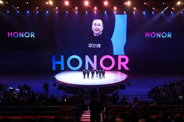 Mr. George Zhao spoke at the HONOR Fans Fest in Beijing, after HONOR View20's China Launch