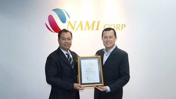 NAMI Corp., via Its Wholly-owned Subsidiary, Receives Sea Sand Mining Licence