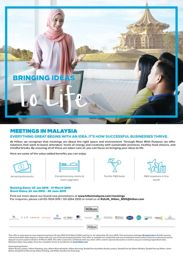 Bringing Ideas to Life with Meetings at Hilton Malaysia