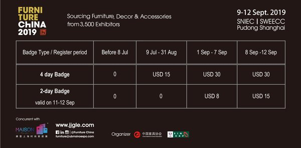 Furniture China 2019 Opens Online Visitor Pre-registration