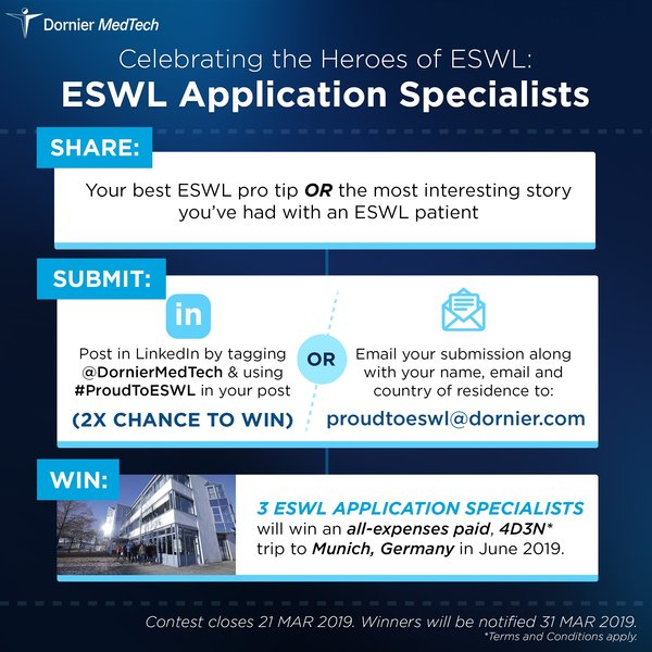 Dornier MedTech Recognizes ESWL Application Specialists Around the World