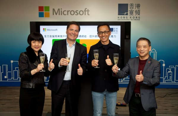 HKBN and Microsoft Hong Kong Join Forces to Elevate the Competitiveness of Hong Kong Companies