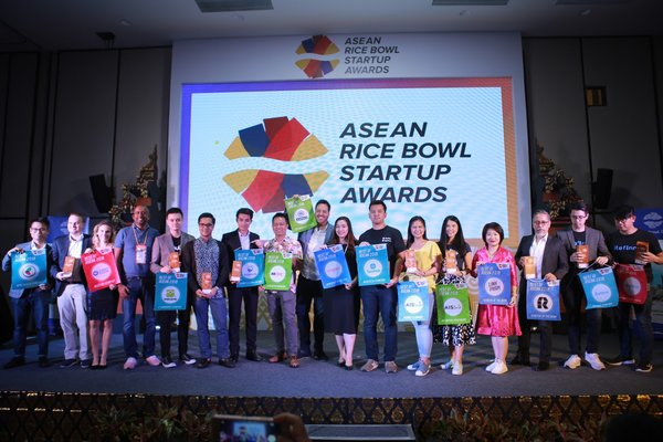 Winners of the ASEAN Rice Bowl Startup Awards from all over Southeast Asia.
