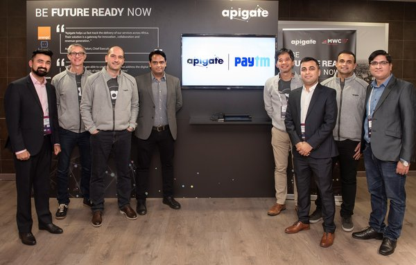 Apigate Partners with One97/Paytm for E-Wallet and Content Services