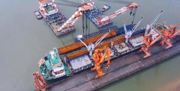 中集承运中克两国最大合作项目核心供材