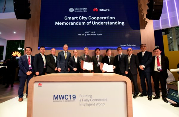 Huawei and Gelsenkirchen Sign MoU for Smart City Cooperation at MWC2019
