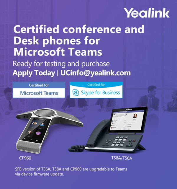 Yealink Announces New Conference and Desktop Phones
