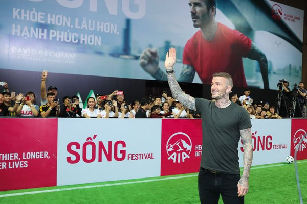 David Beckham visited AIA Vietnam for the first time in his capacity as AIA's Global Ambassador