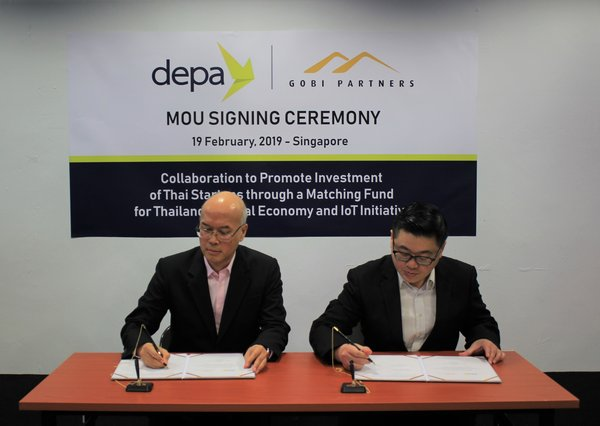 Dr. Passakon Prathombutr, Senior Executive Vice President of depa (Left) with Mr. Dan Chong, COO of Gobi Partners (Right)