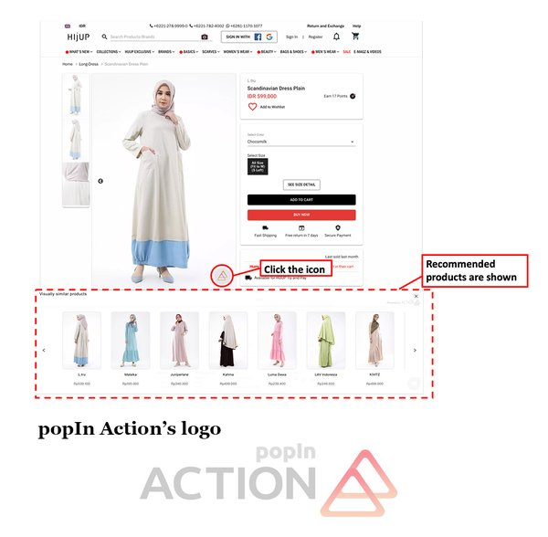 Simultaneous Adoption in 10 Countries and Regions popIn Launches popIn Action, a Recommendation Service Utilizing Image Recognition Technology for E-commerce