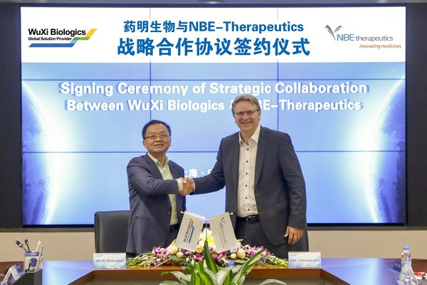 WuXi Biologics and NBE-Therapeutics Announce Comprehensive ADC Development and Manufacturing Partnership