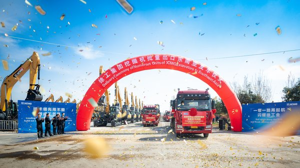 XCMG Delivers Large Orders to Southeast Asia, Aiding Infrastructure Projects