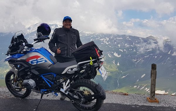 Fahmy Eskak - Co-Founder of ADV Yard Singapore while on his European Alps tour.
