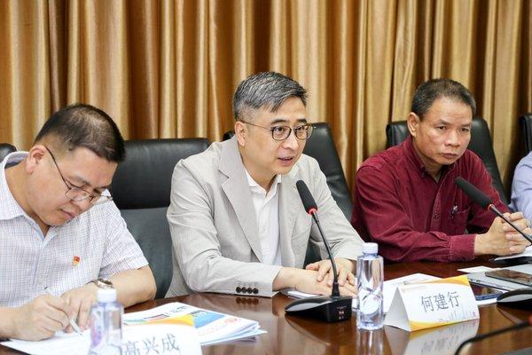 广州医科大学附一院院长、中心副主任何建行教授致辞
