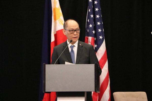 Bangko Sentral ng Pilipinas (Central Bank of the Philippines) Governor Benjamin E. Diokno talks about the solid fundamentals of the Philippine economy to the top investors and key business representatives at the Philippine Day forum in Washington