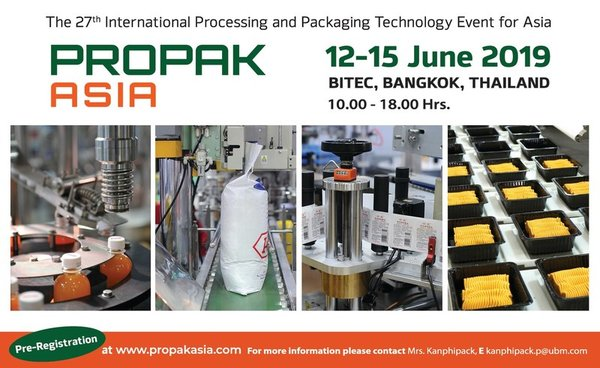 ProPak Asia 2019 to showcase over 860 exhibitors in PackagingTechAsia Zone