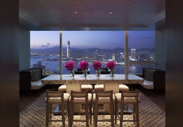 Conrad Hong Kong towers above Pacific Place entertainment complex, featuring 512 guestrooms with views of Victoria Harbour and The Peak to let modern travelers to stay inspired.