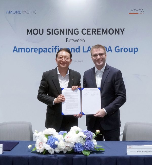 Amorepacific and Lazada Group sign an MOU to strengthen partnership and enhance brand outreach in Southeast Asia