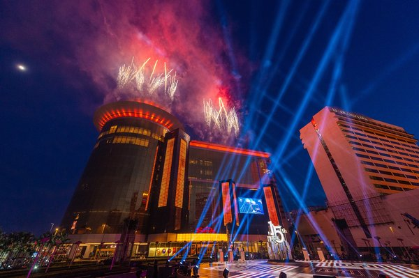 "A remix of The No. 1 hit single ""This Is Me"" from the award-winning film ""The Greatest Showman"" plays as a pyrotechnic display helps celebrate the 15th anniversary of Sands Macao at a ceremony Thursday at the hotel and entertainment complex."