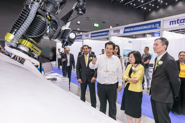 Thailand Board of Investment (BOI) Secretary-General, Ms. Duangjai Asawachintachit, visiting robotics technology on display at the 2019 edition of Intermach, ASEAN's Leading Industrial Machinery & Subcontracting Exhibition, MTA Asia and Subcon Thailand, in Bangkok earlier this month.