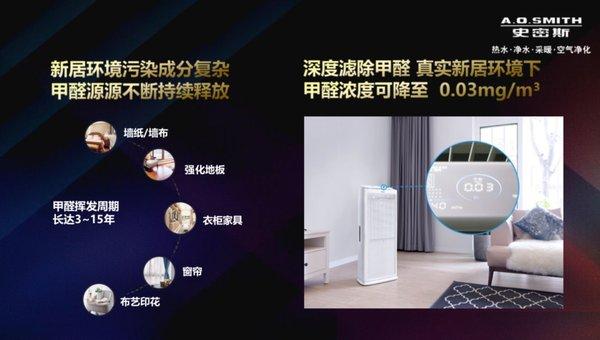 A.O.史密斯甲醛净化器亮相中国空净行业峰会