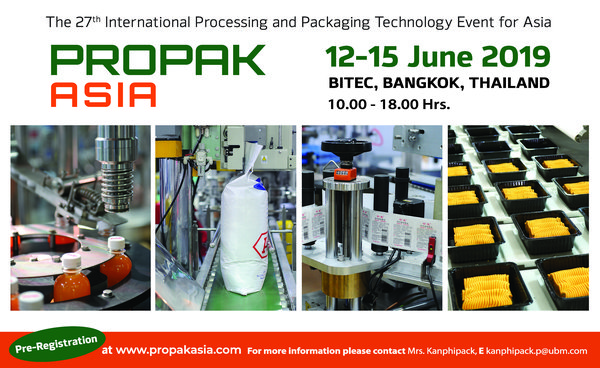 ProPak Asia 2019 - Asia's No.1 Processing & Packaging Event
